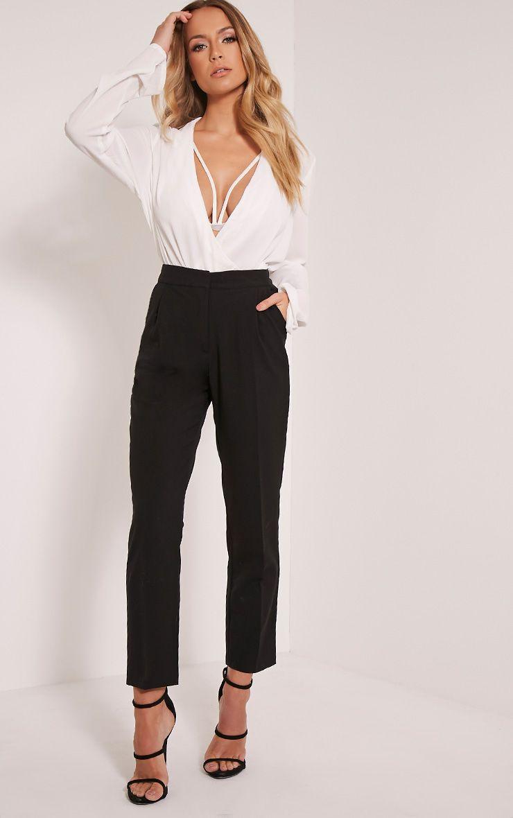 Taryn Black Cigarette Trousers 1