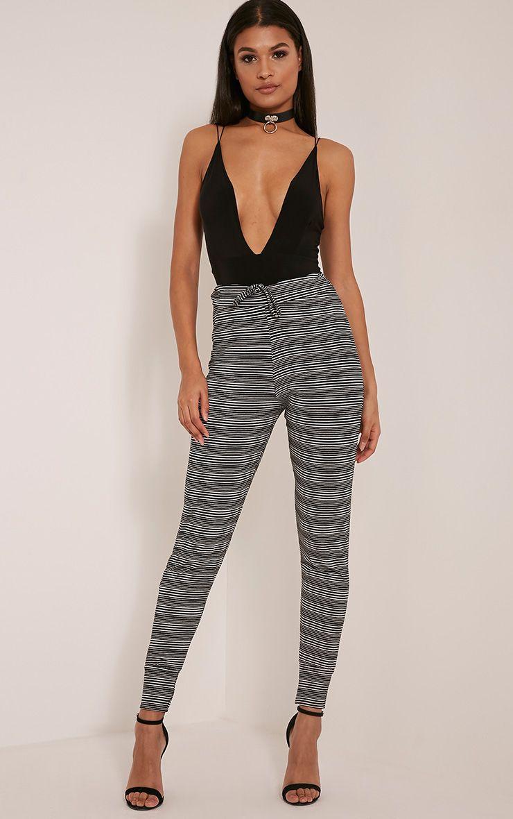 Tamia Black Stripe Joggers 1