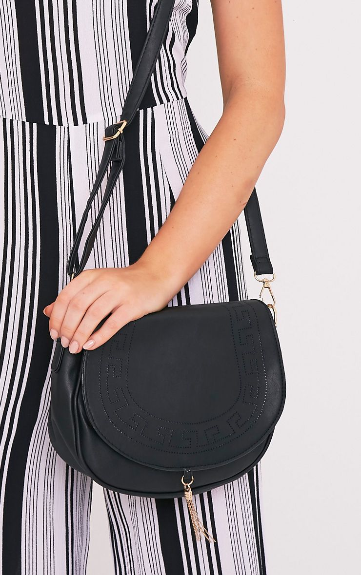 Flo Black Chain Detail Shoulder Bag