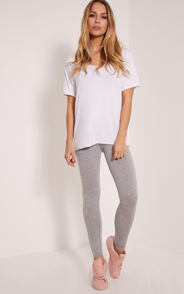 Petite Basic Grey Leggings 1