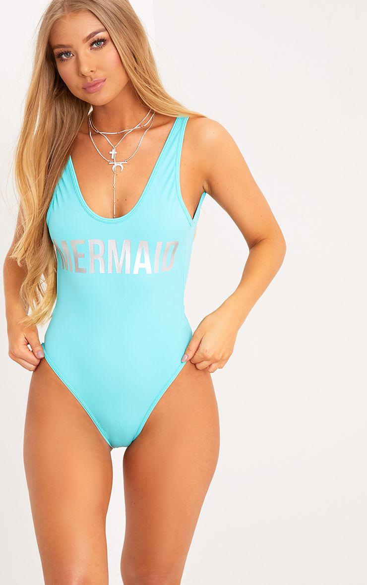 Angela Baby Blue Mermaid Swimsuit