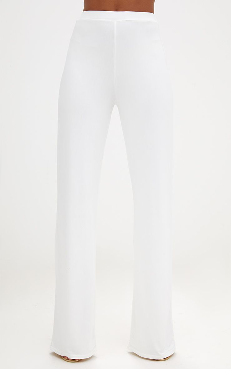 Cream Slinky Palazzo Trousers 2