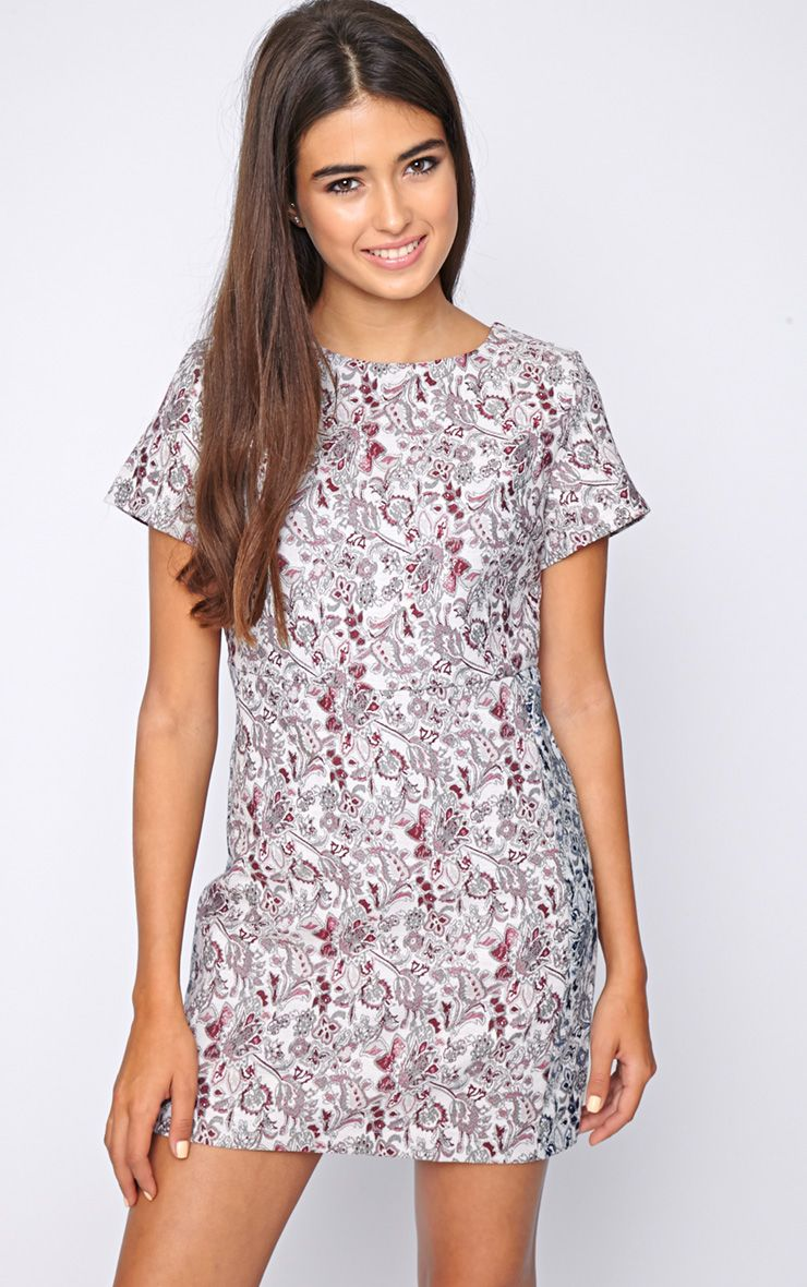 Arya Red Paisley Print Shift Dress 1