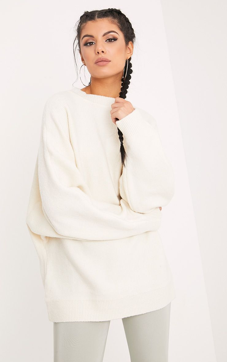 Raysa Cream Oversized Knitted Jumper