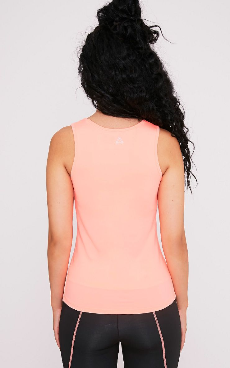 Avia Peach Racer Neck Gym Vest 2