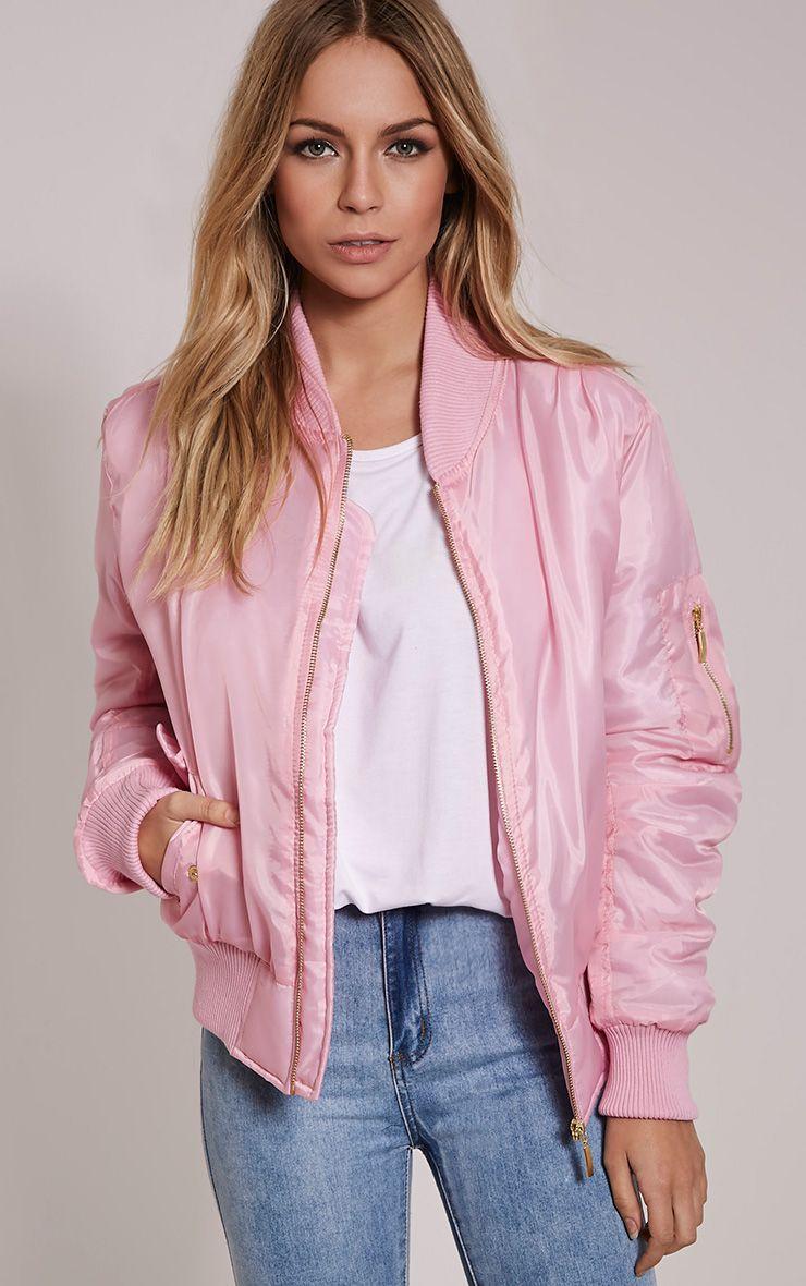 Alexus Pink Bomber Jacket