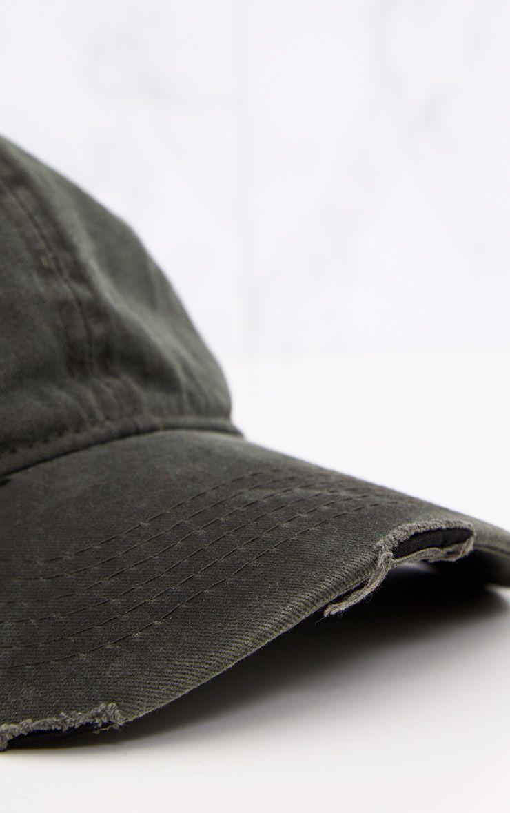 Grey Distressed Front Cap 5