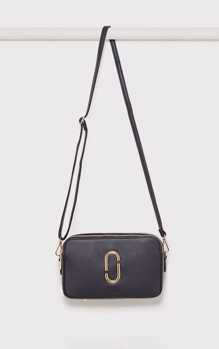 Florence Black Snake Trim Bag