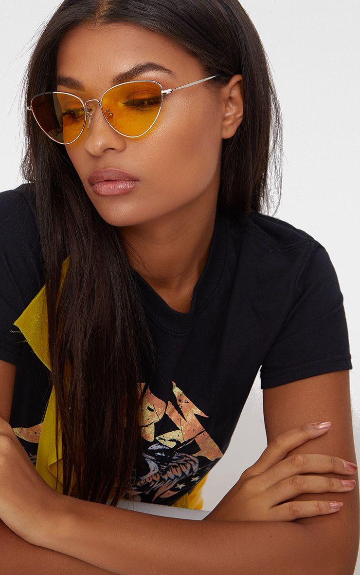 Yellow Cat Eye Lense Retro Sunglasses