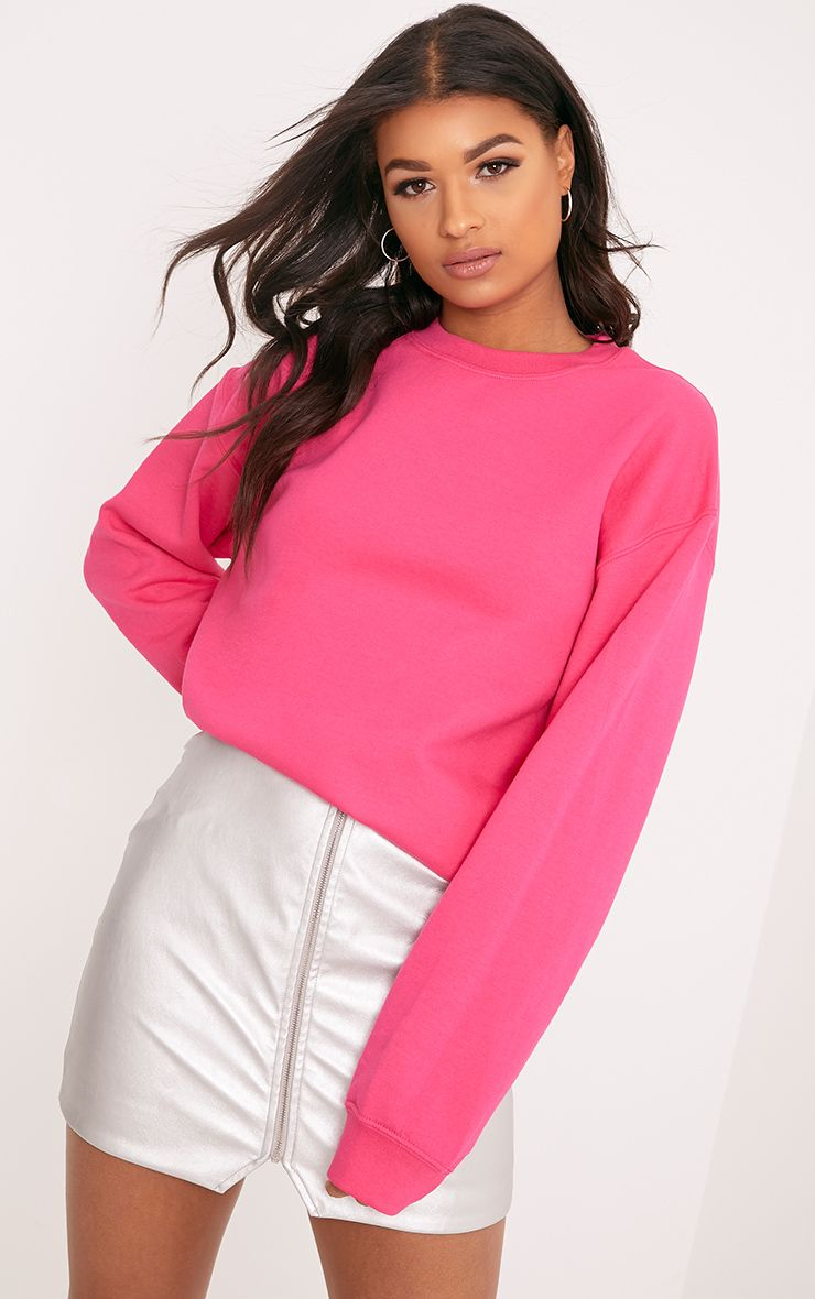 Ultimate Bright Pink Crew Neck Sweater