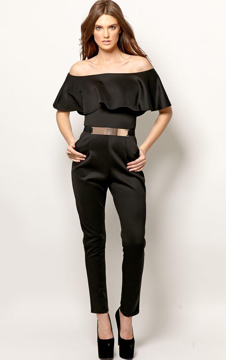 Anastasia Black Frill Jumpsuit 1