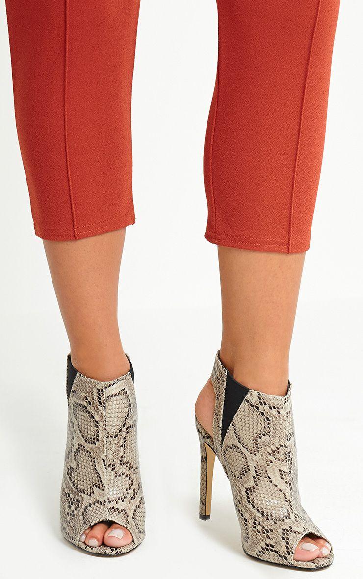 Raeanne Snake Effect Open Heel Shoes 1