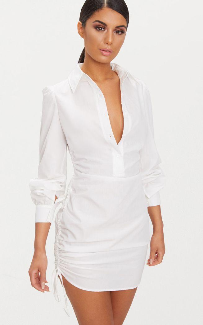 White dress little white dresses prettylittlething for White dress workout shirt