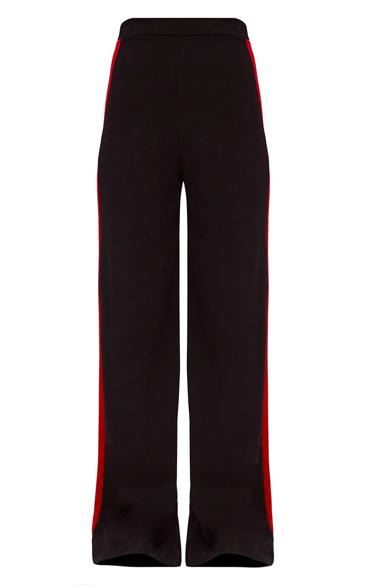 Black Sport Side Stripe Wide Leg Trousers 3