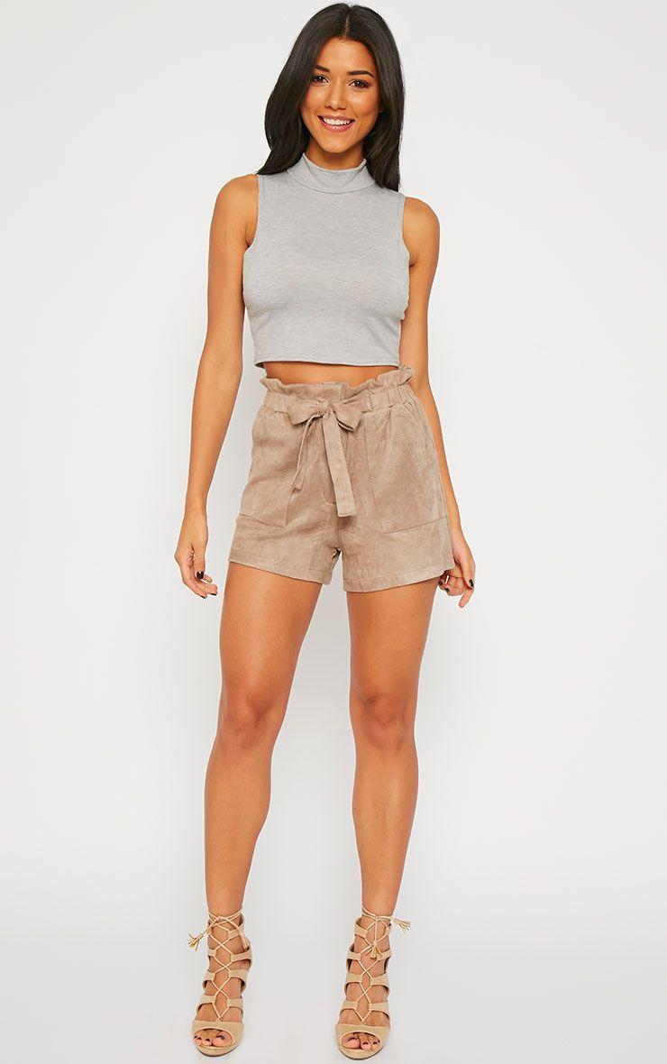 Trudy Mocha Suede Shorts 1