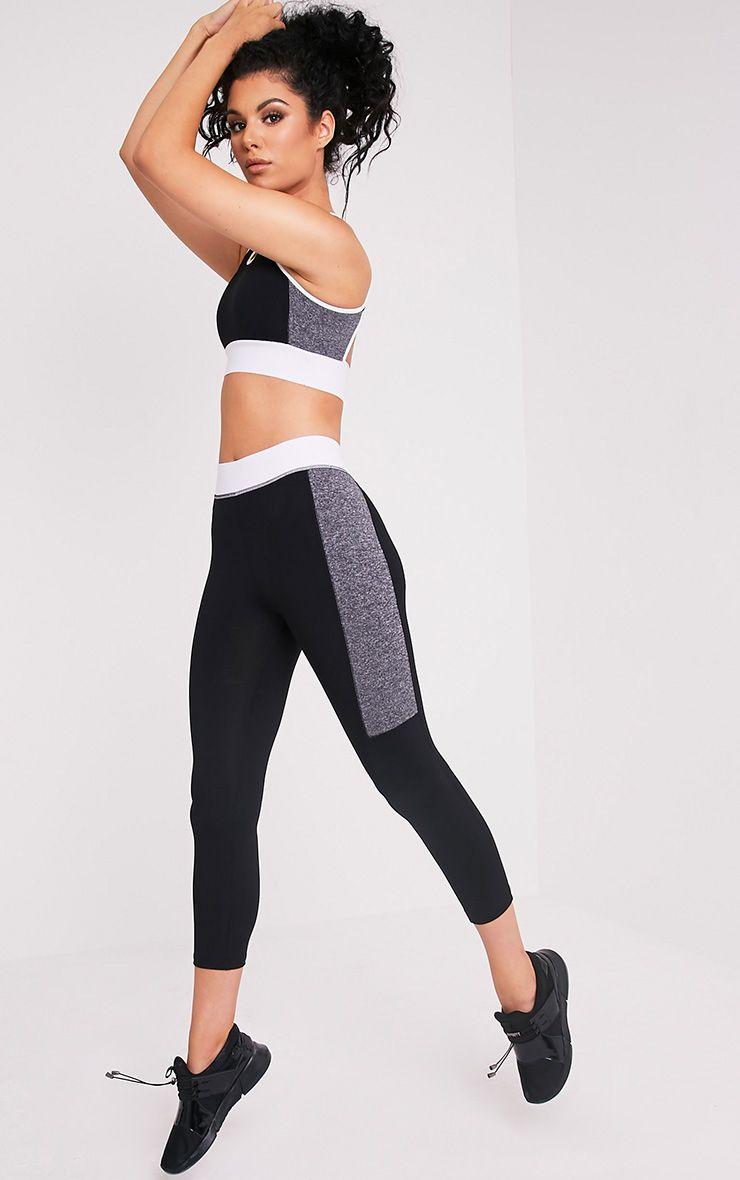 Isadora Contrast Panelled Gym Leggings 1