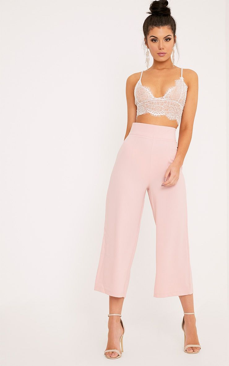 Tazmin Blush High Waisted Culottes