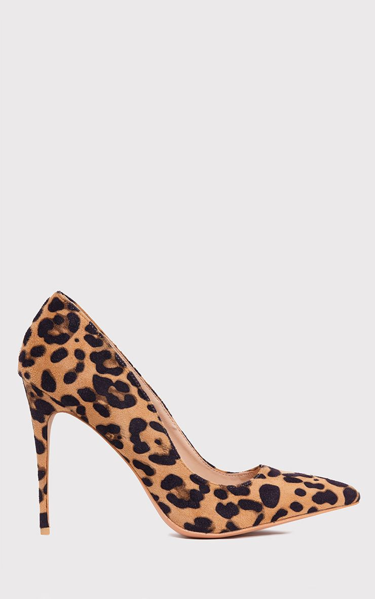 Chenille Camel Leopard Print Pointed Heels