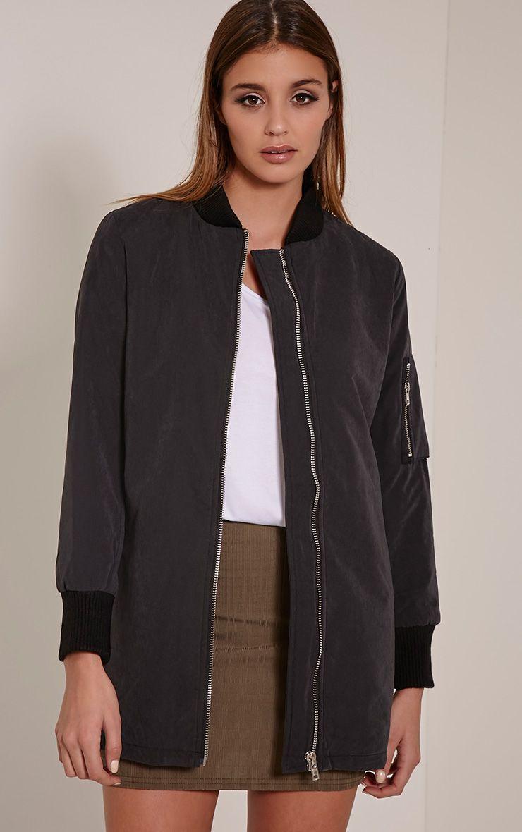 Bailey Black Longline Padded Coat 1