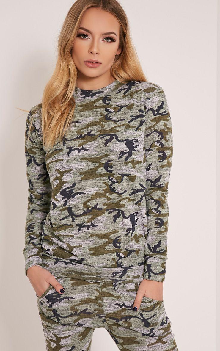 Grechin Marl Khaki Camouflage Tracksuit Sweatshirt 1