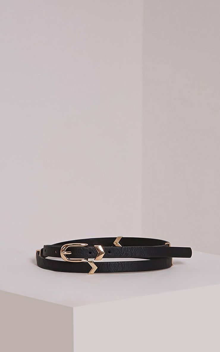 Diane Black PU Belt 1