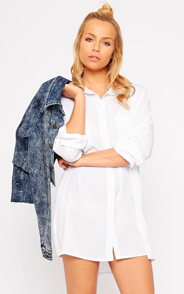 Effy White Shirt Dress