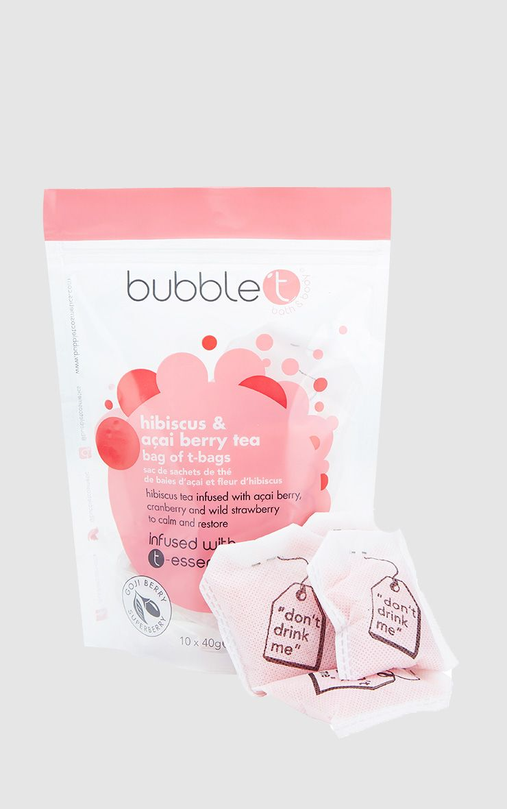 Bubble T Bath Infusion T-bags In Hibiscus & Acai Berry 1