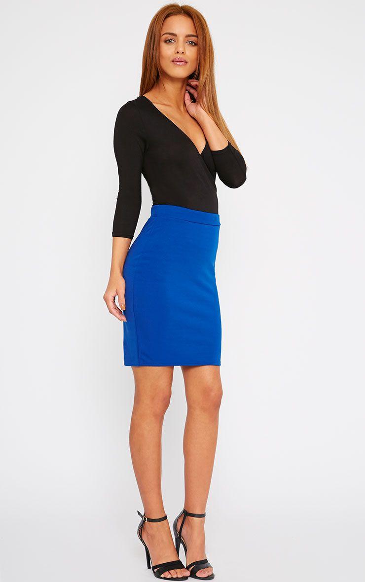 Grace Cobalt Mini Skirt 1