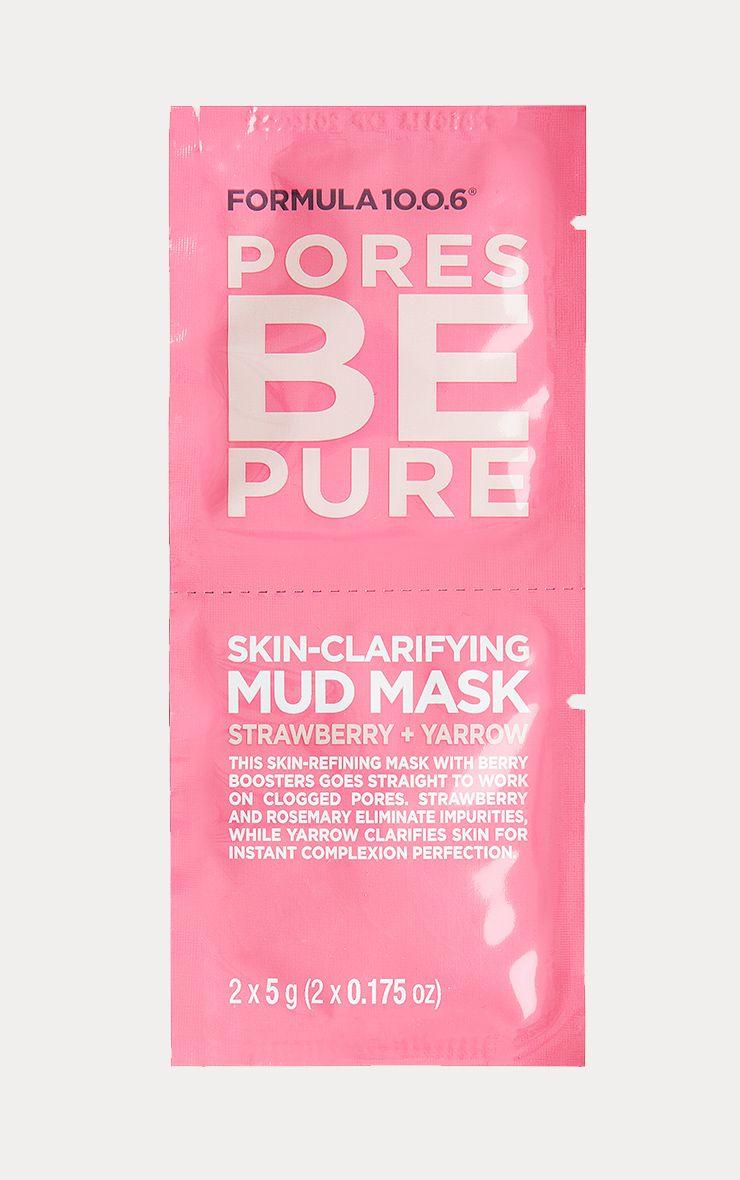 Formula 10.0.6 Pores Be Pure - Skin Clarifying Mask Sachet 1