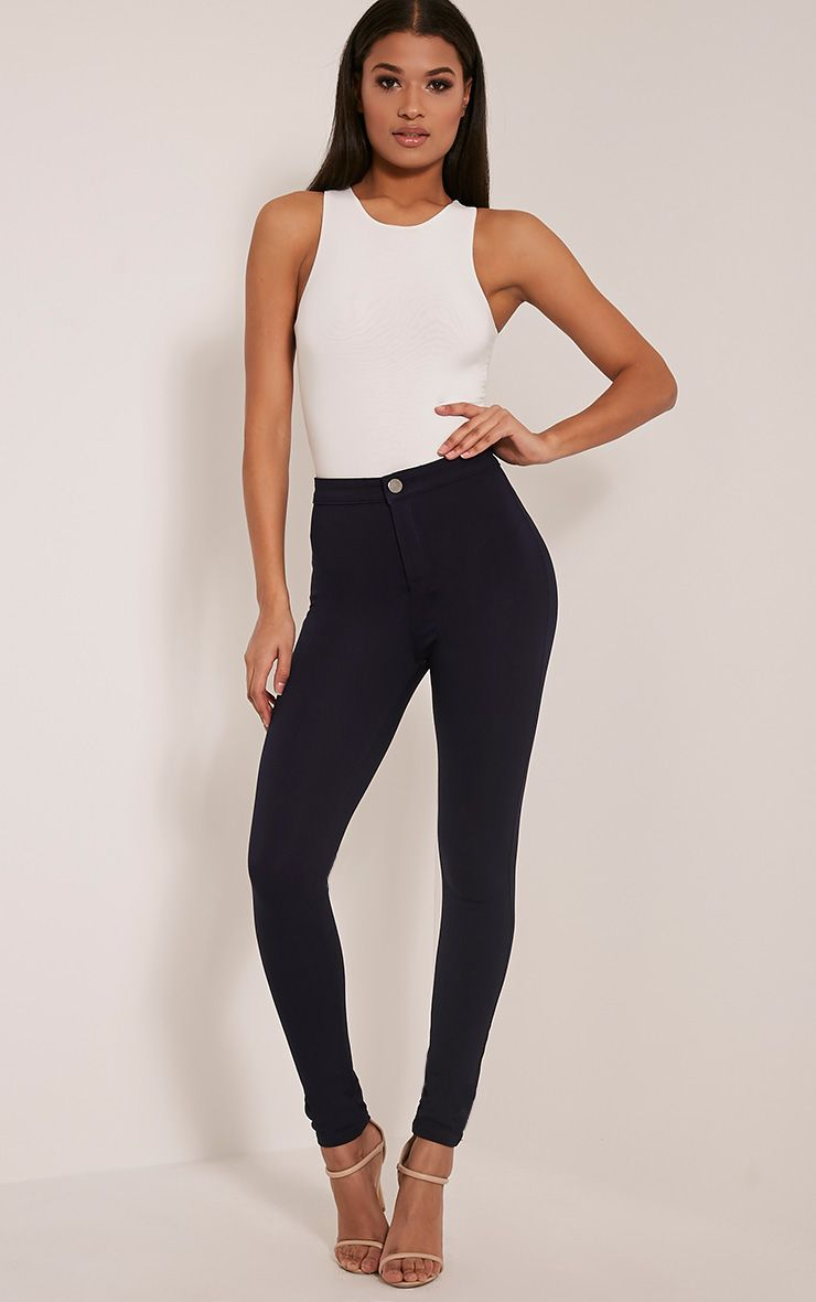 Serinna Navy High Waisted Jeggings 1
