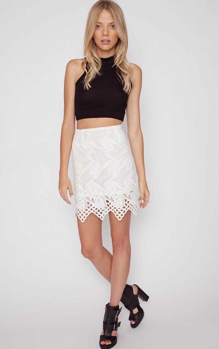 Carla White Lace Skirt  1