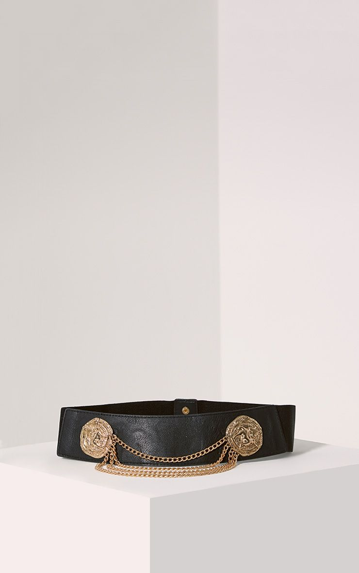 Erika Gold Drop Chain Belt 1