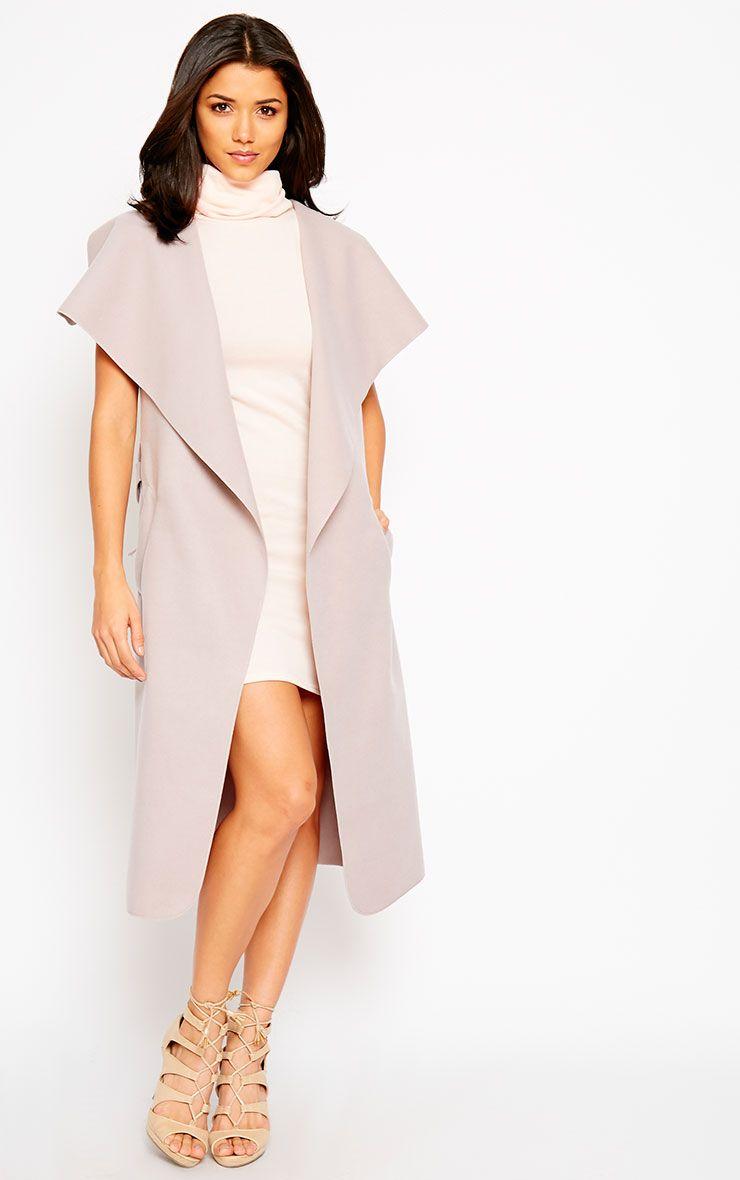 Valerie Mink Sleeveless Waterfall Coat 1