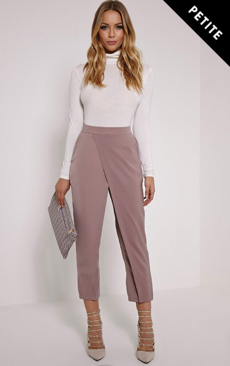 Petite Rachel Blush Cross Front Trousers 1