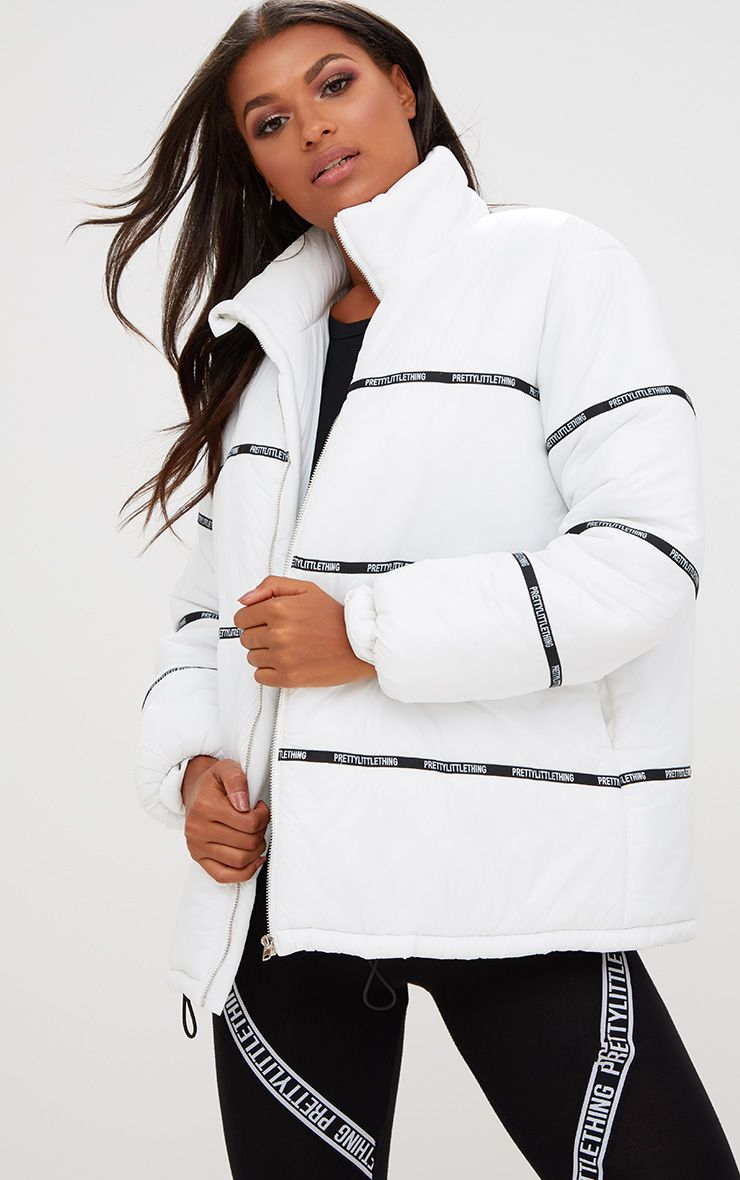 PrettyLittleThing White Puffer Coat