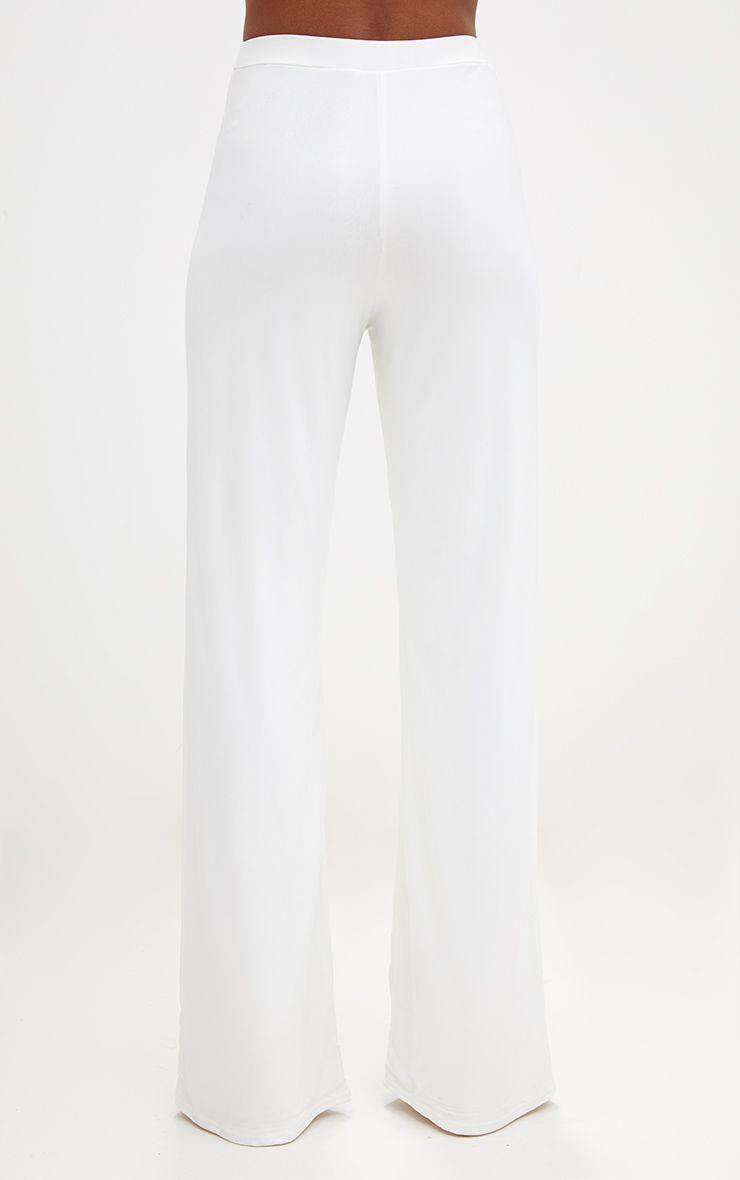 Cream Slinky Palazzo Trousers 4