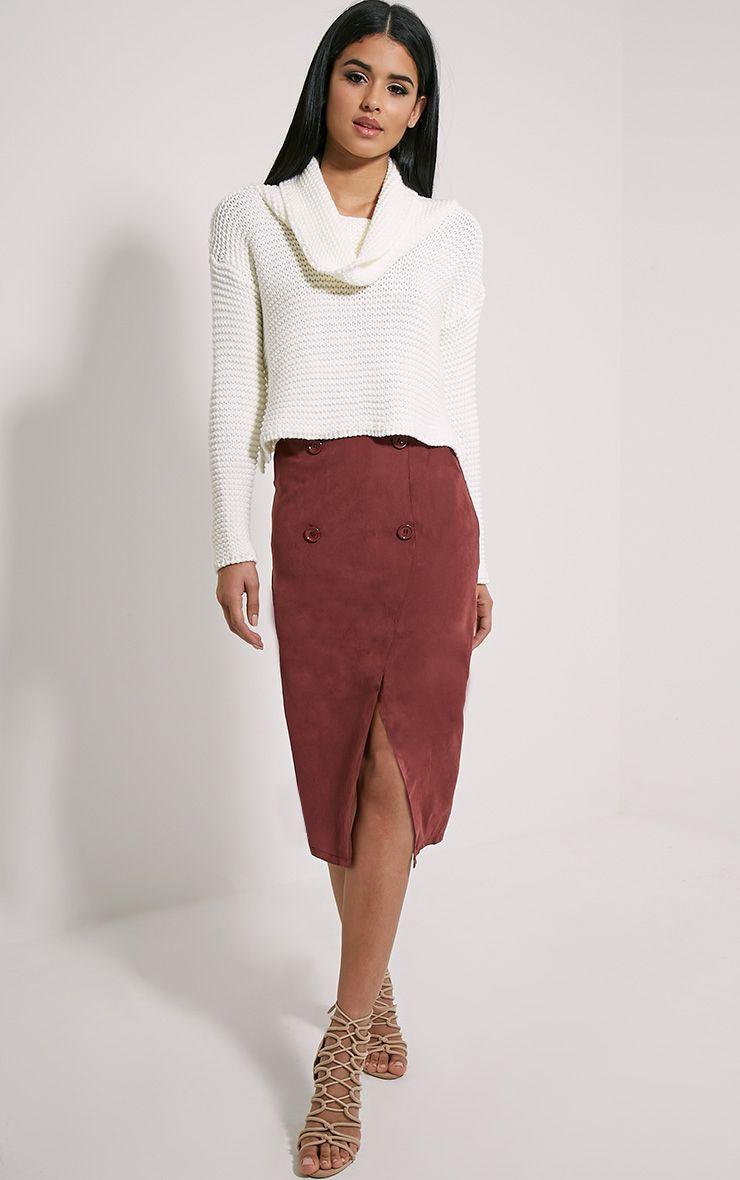 Mardy Berry Wrap Midi Skirt 1