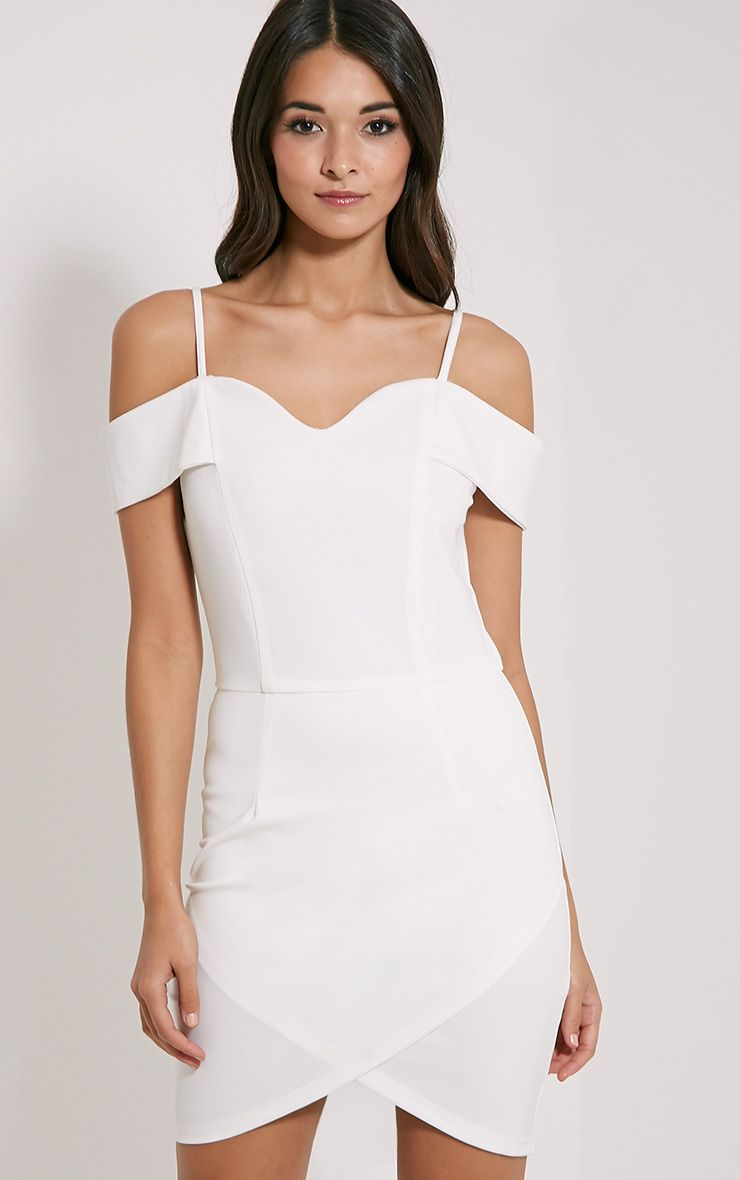 Floretta White Bardot Mini Dress 1