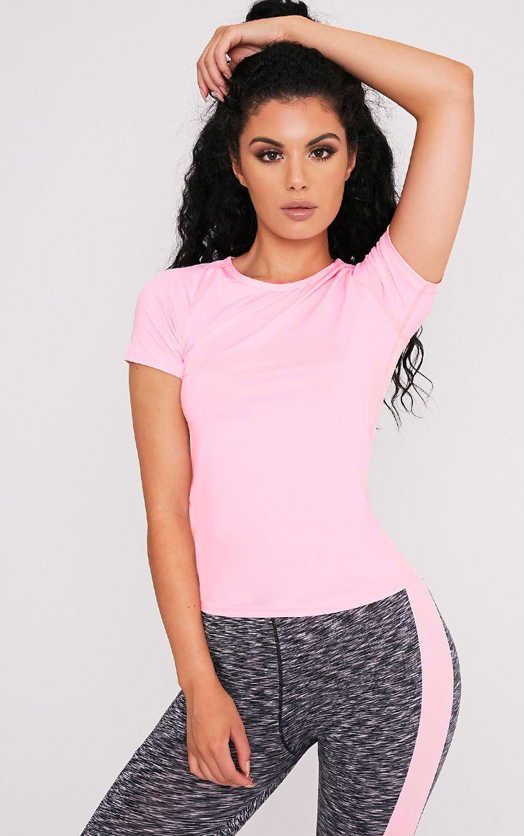Tia t-shirt de sport à manches courtes rose bébé 1