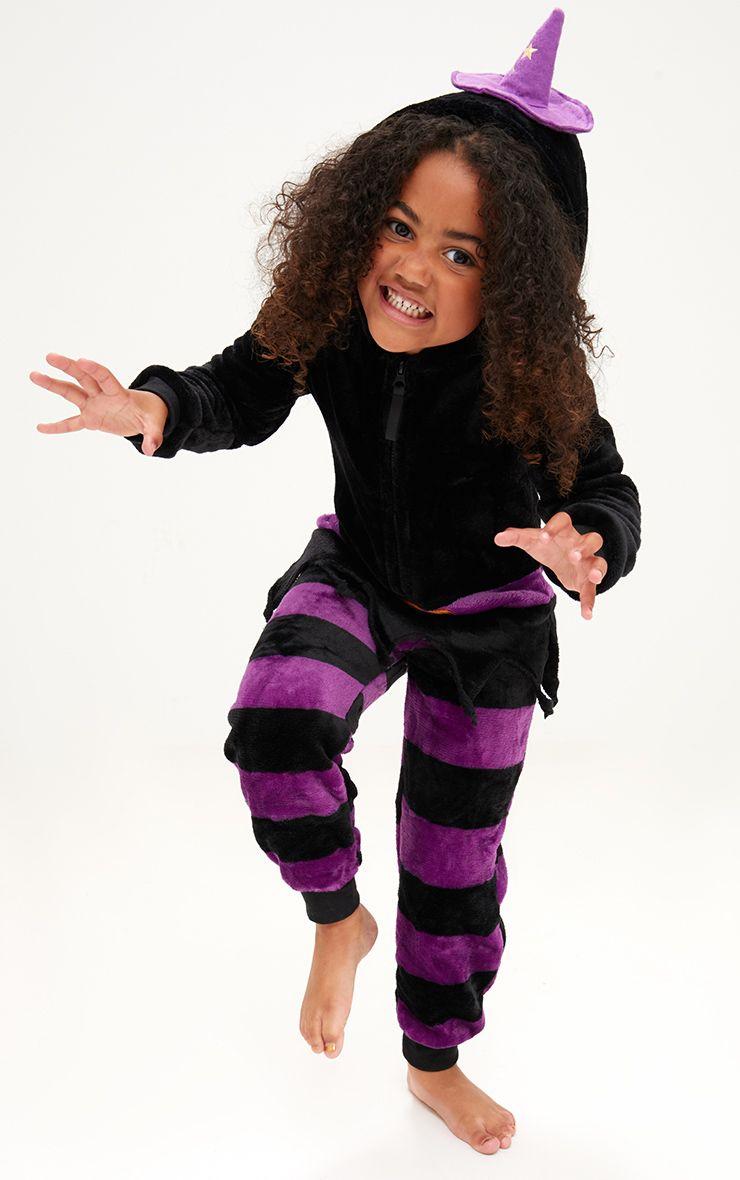 Black Halloween Witch Onesie