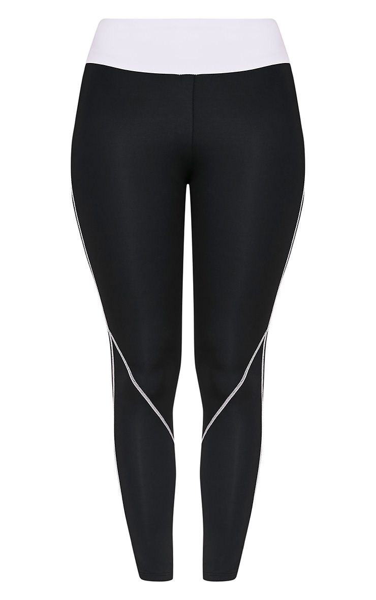 Elizabeth leggings de gym à empiècement noirs 3
