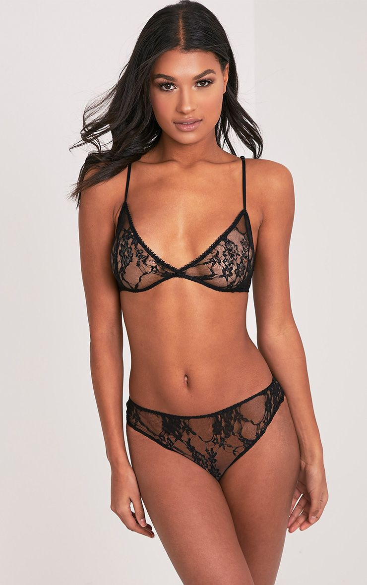 Kadia Black Lace Soft Triangle Bra