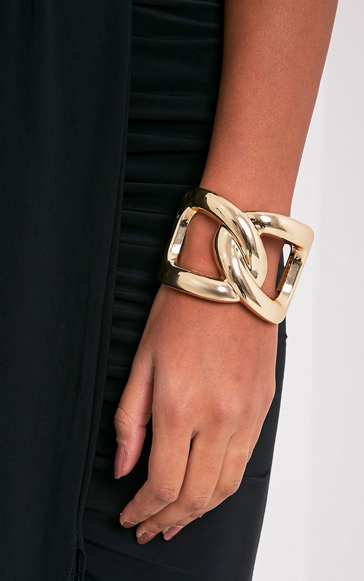 Aneria Gold Chain Cuff