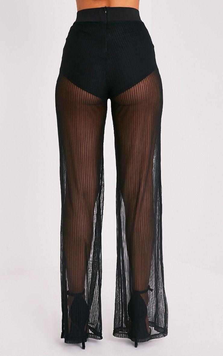 shamira pantalon large rayures noir pantalons. Black Bedroom Furniture Sets. Home Design Ideas