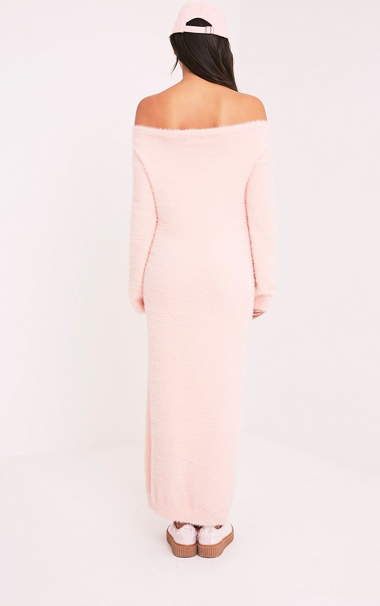 Idelle Nude Fluffy Knit Maxi Dress 2