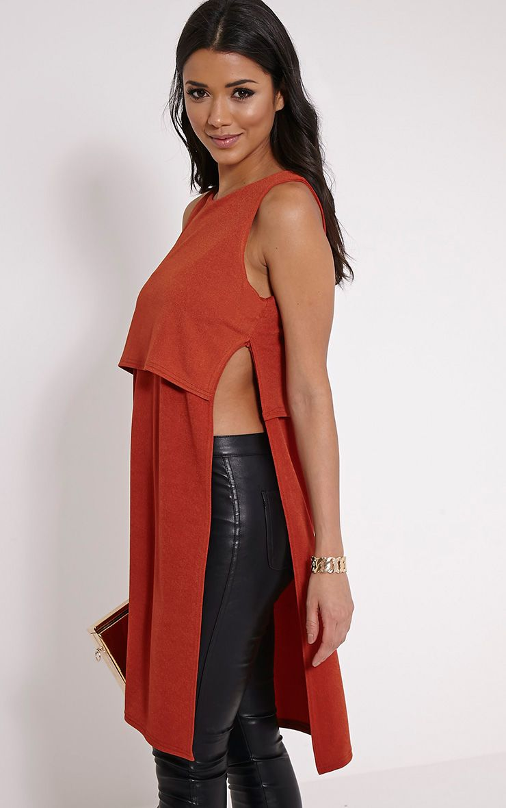 Littie Rust Double Layer Side Split Top 1