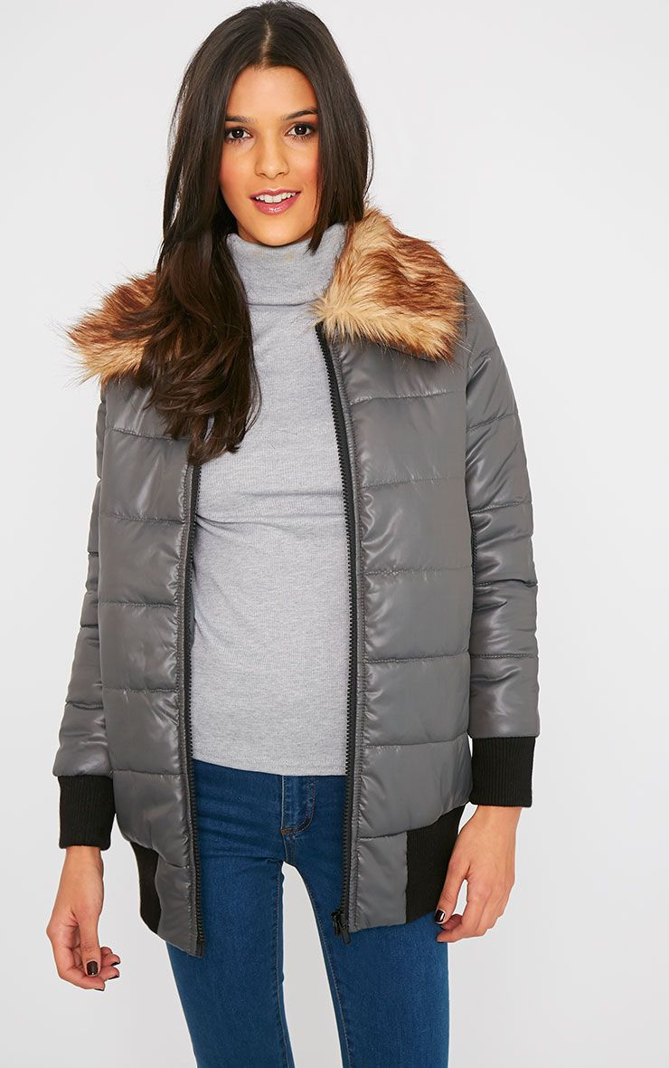 Selma Grey Puffa Jacket  1