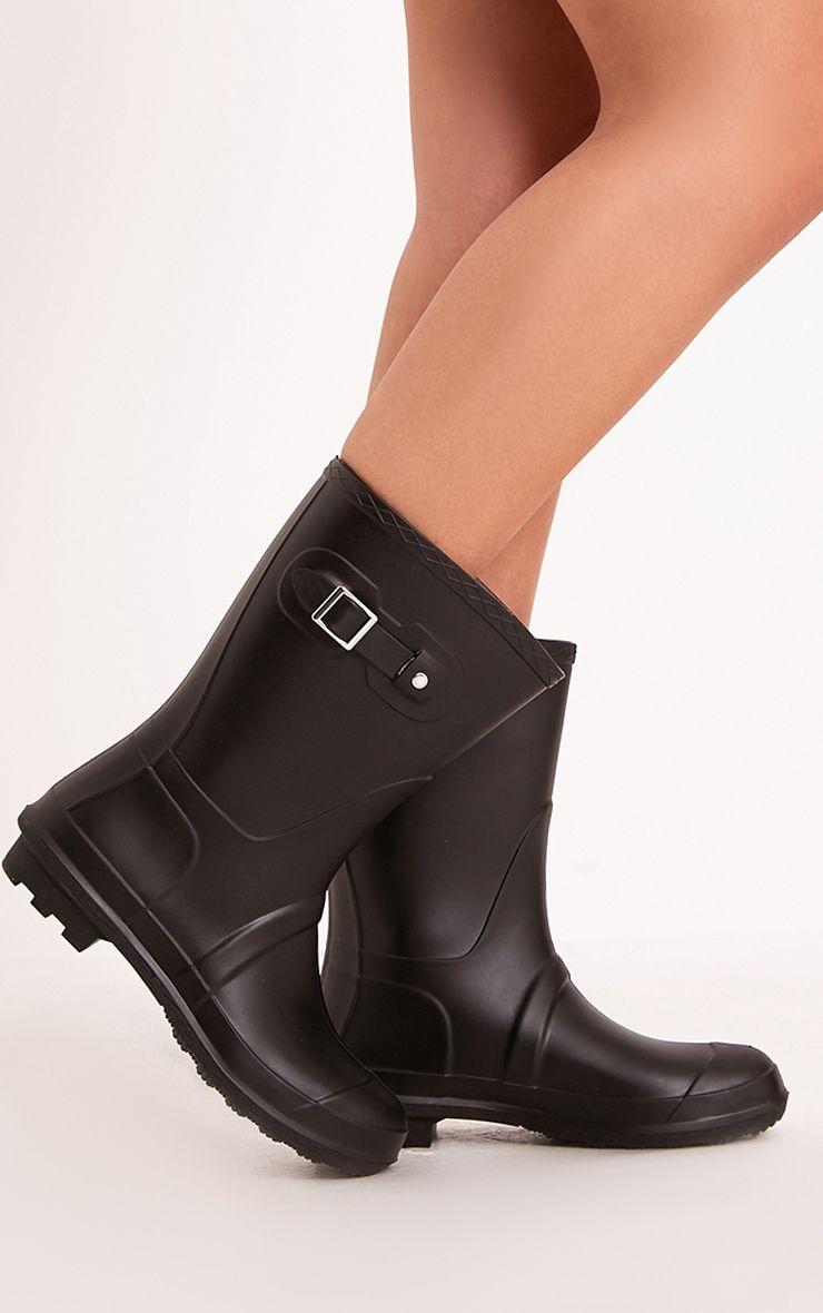 Janiah Black Short Rain Boots