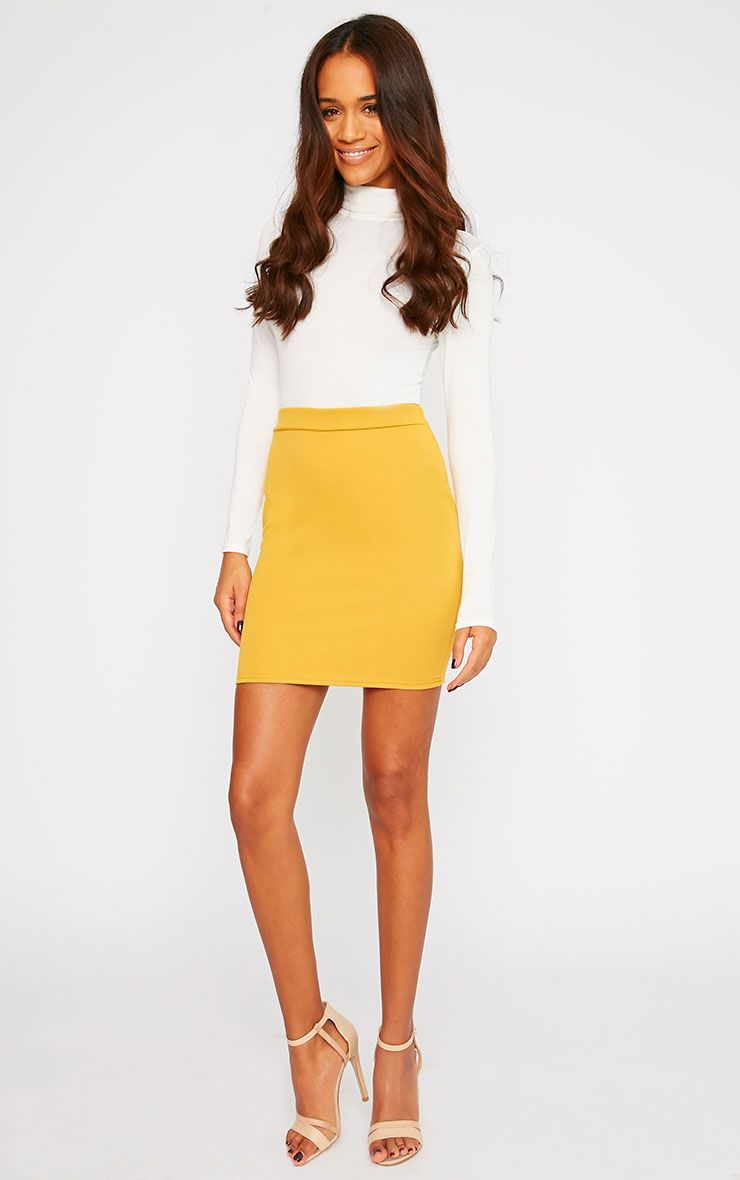 Grace Mustard Mini Skirt  1