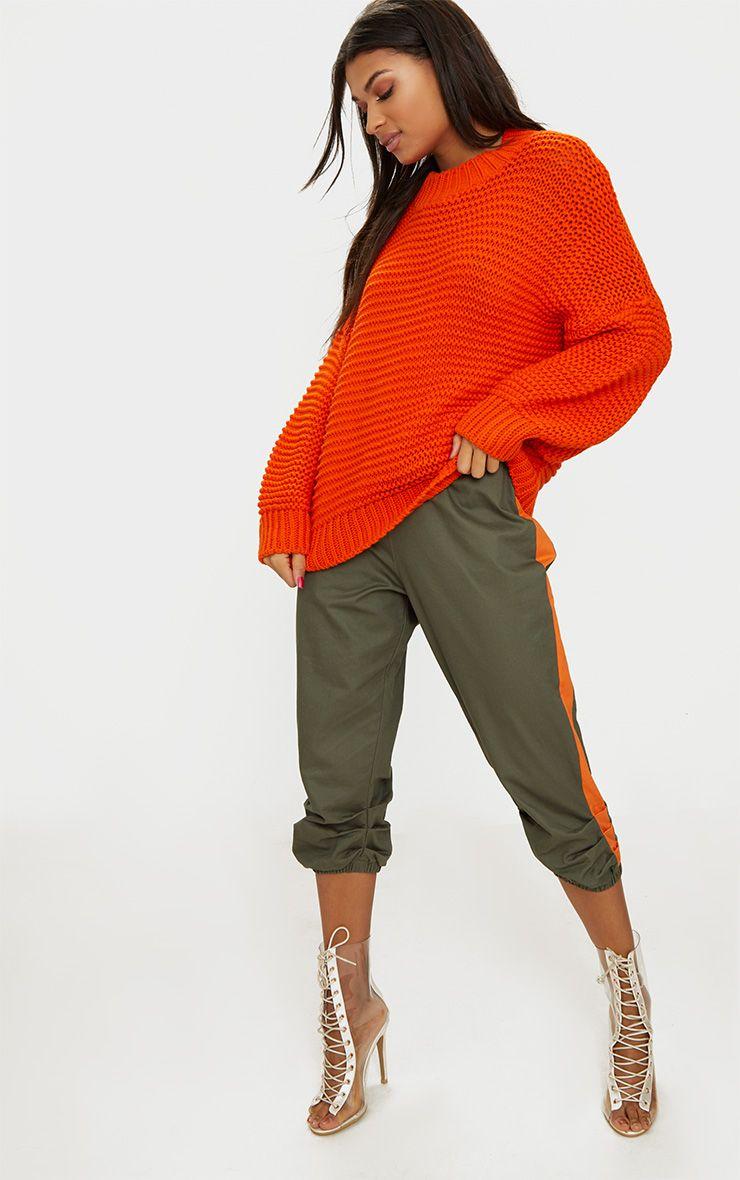 Orange Oversized Chunky Jumper